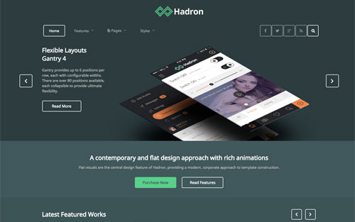 Hadron Template Website