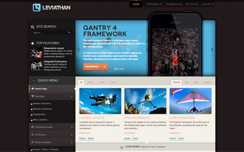 Template Leviathan Website