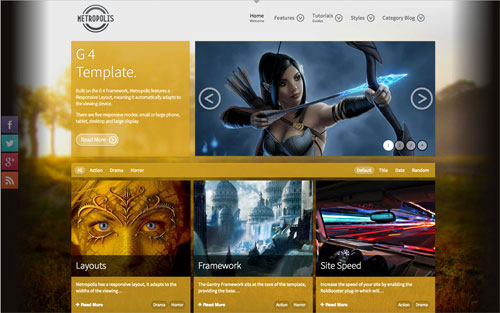 Metropolis Template Website