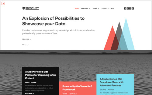 Ricochet Template Website