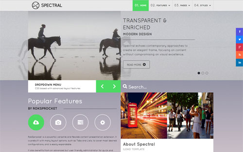 Spectral Template Website