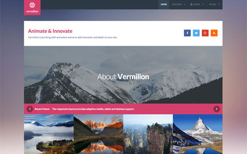Vermillion Template Website